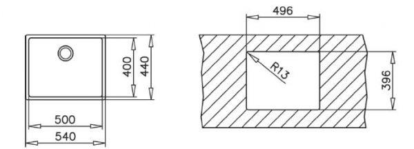 Chậu Rửa Inox Teka LINEA R15 50.40 10138005
