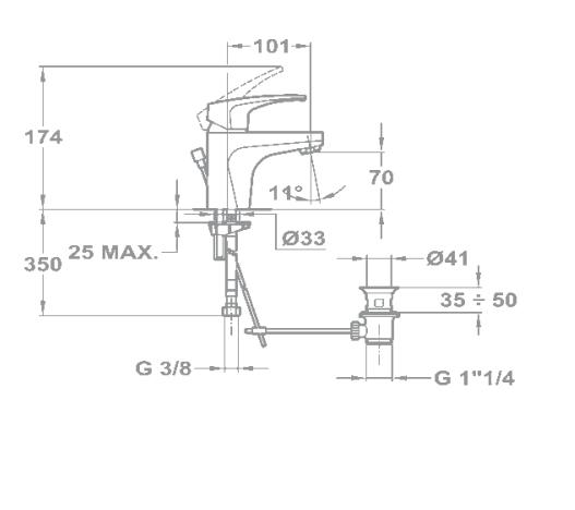 Vòi Lavabo Teka MB2 4034202