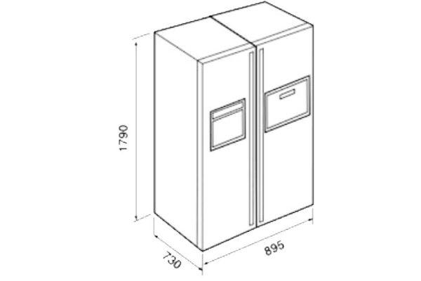 Tủ Lạnh Teka NFD 680 Black 40666681